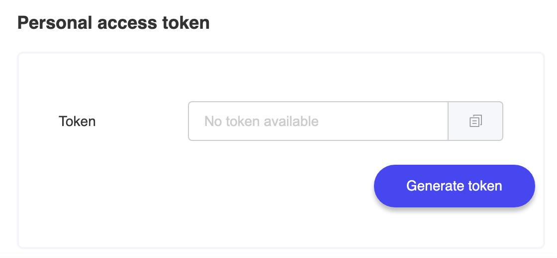 dots-personal-access-token