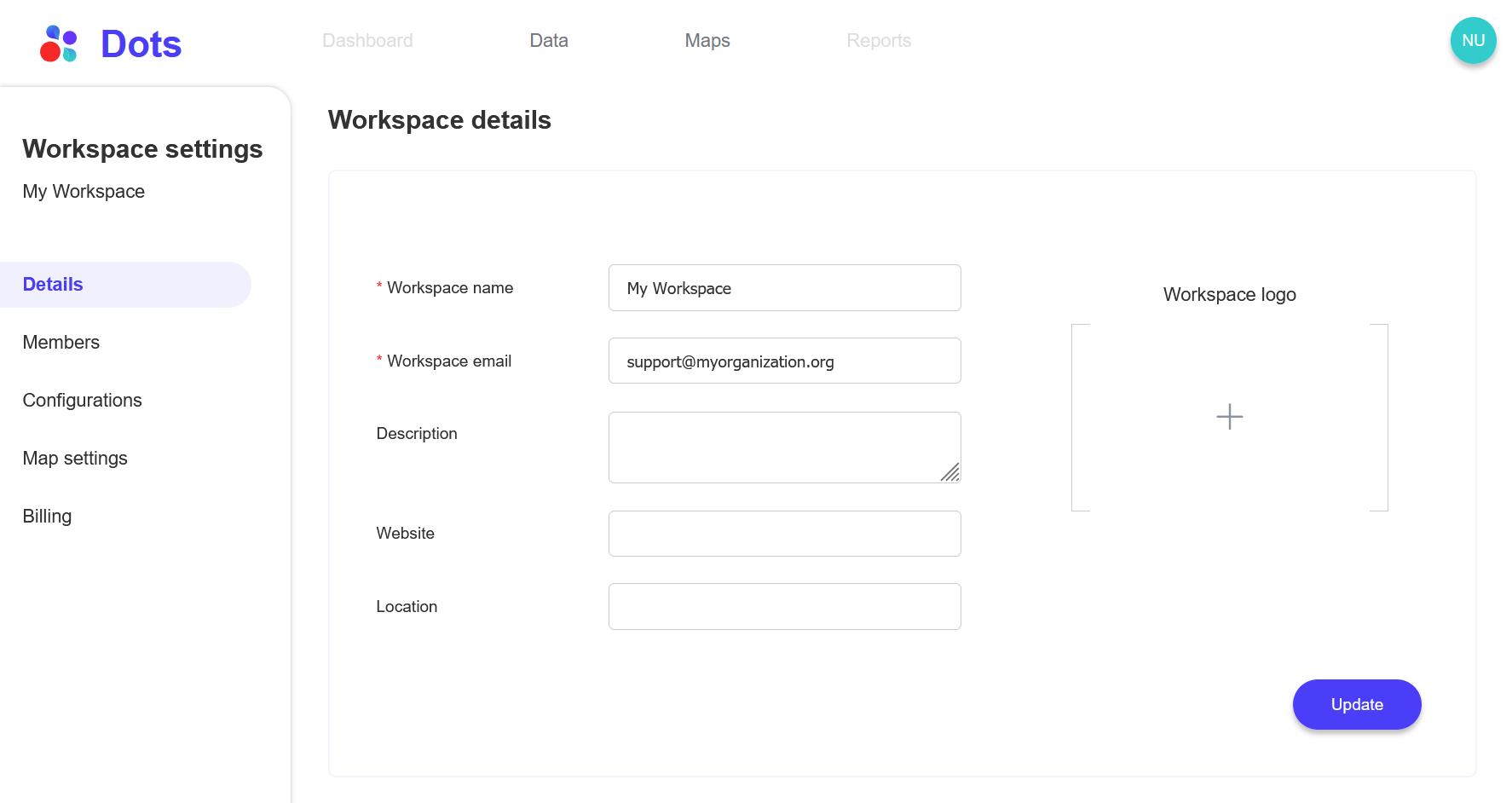 dots-workspace-settings
